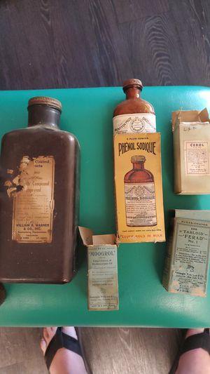 Antique medicine bottles for Sale in Upland, CA