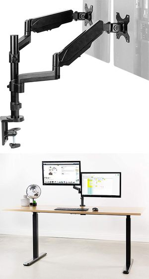 "New $35 VIVO Dual Monitor Arm Mount 17-32"" Screens Height Adjustable Full Articulating Tilt Swivel for Sale in Whittier, CA"