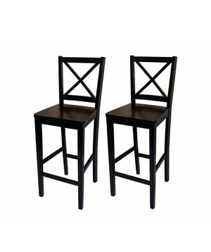 "Virginia cross back counter height stools 30"" (set of 2) for Sale in Bakersfield, CA"