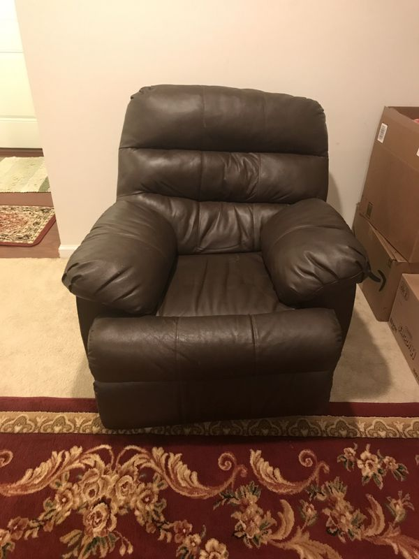 Recliner sofa and recliner rocking chair fine leather