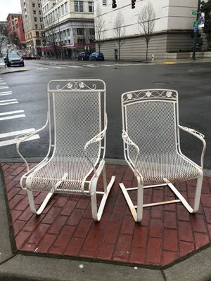 Vintage Wrought Iron Chairs for Sale in Tacoma, WA