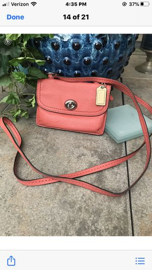 Coach small wallet size cross body bag for Sale in New Albany, OH