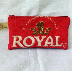 Royal burlap wristlet for Sale in Laurel, MD