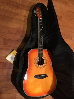 Oscar Schmidt Acoustic 3/4 Guitar and Case for Sale in Ashburn, VA
