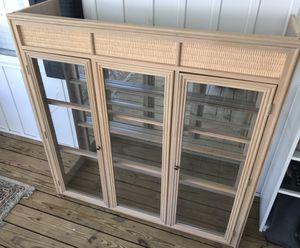 Fancy Heavy Duty Glass Mirror Shelf Cupboard with Lighting for Sale in Ford, VA