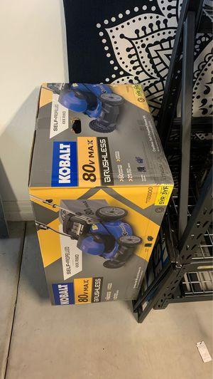Kobalt 80v self propelled cordless lithium battery powered lawn mower tool for Sale in Phoenix, AZ