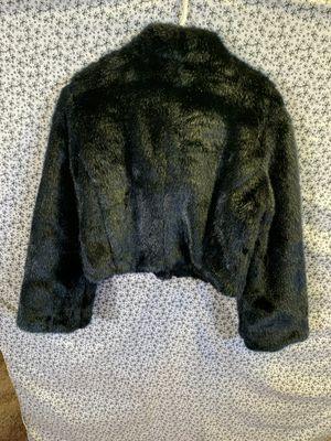 bebe Faux Fur Jacket Size L for Sale in Lauderdale Lakes, FL