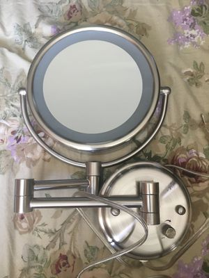 Brushed nickel 3x Magnifying Makeup Double sided Mirror for Sale in Baltimore, MD