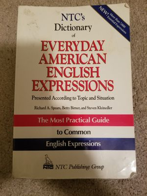 Everyday Anerican English Expressions Book for Sale in Gretna, LA