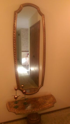 Entrance Wall Mirror & Base for Sale in Naperville, IL
