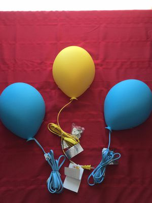 3 balloon light up wall lamps for Sale in Tampa, FL