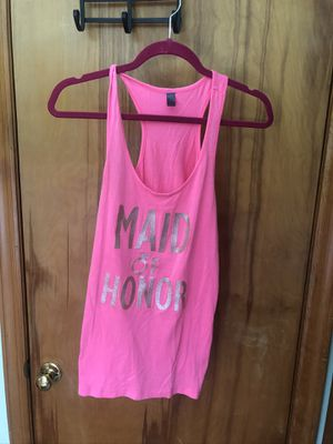 Hot pink maid of honor tank top for Sale in South Plainfield, NJ