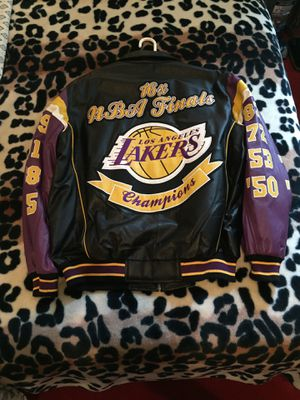 Brand new!!! XL Leather Lakers jacket for Sale in Downey, CA
