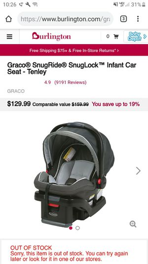 Never used graco car seat for Sale in Greencastle, IN