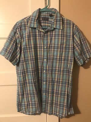 ***ARROW MENS SHORT SLEEVE PLAID BUTTON UP SIZE LARGE*** for Sale in Portland, OR