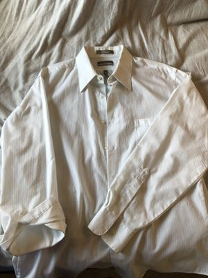Van Heusen men's Large satin stripe dress shirt for Sale in Terrebonne, OR