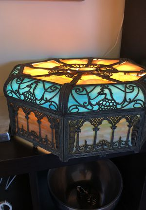 Antique Art Nouveau American Slag Glass Lampshade for Sale in Los Angeles, CA
