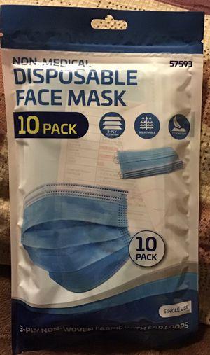 10 Pack Disposable Face Mask for Sale in Norfolk, VA