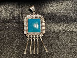 Beautiful!! RUNNING BEAR Native American Indian Copper Sterling Silver Turquoise Pendant for Sale in Los Angeles, CA