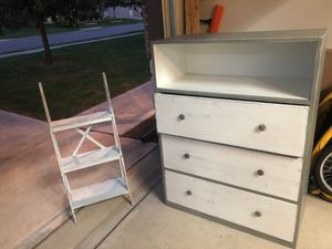 Drawers and ladder shelf for Sale in Round Rock, TX