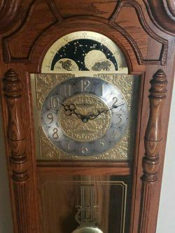 Howard Miller 620-184 Dual Chime Grandfather Clock Wall Cabinet Style for Sale in Richmond,  VA