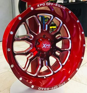 """NEW! SET OF 5 20"""" XPD Offroad Candy Red 5x5 Jeep Wrangler Chevy 20x10 Rims Wheels XD Fuel Moto for Sale in Tampa, FL"""