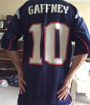Reebok Patriots NFL Jersey, Large Size, # 10 Gaffney, Great WR for the PATS ! for Sale in Pinellas Park, FL