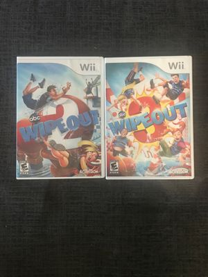 Wipe out 2 and 3 wii games for Sale in Delray Beach, FL