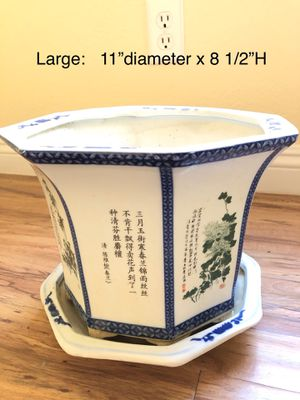 Ceramic Flower Pots for Sale in San Bernardino, CA