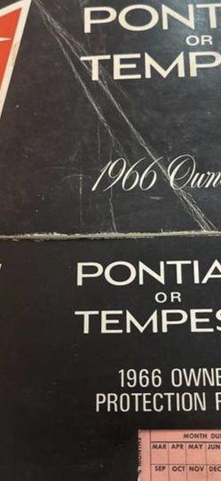 1966 Pontiac Or Tempest Owners Manual for Sale in Strongsville,  OH