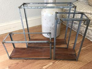Hearth and hand galvanized metal/wood shelves for Sale in Loomis, CA