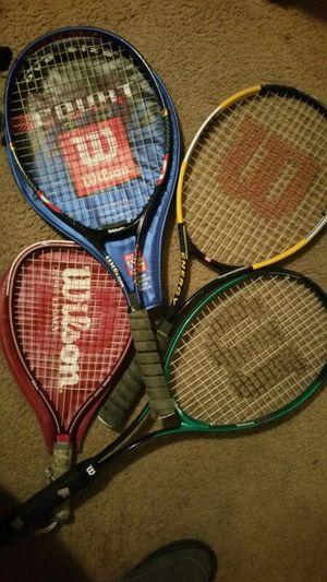 4 Wilson Tennis Rackets for Sale in Richmond, VA