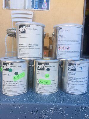 $40 EACH 2X 1 gallon 3M process color Lemon Yellow 1 gallon 3M process color Gold 1 gallon 3M process color AQM Toner 1 gallon 3M process color A for Sale in Gardena, CA