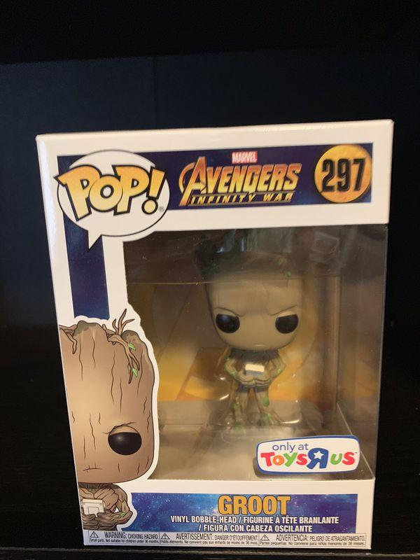Funko Pop Avengers Infinity War Groot Toys R Us Exclusive