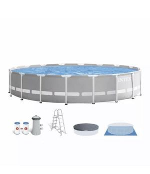 Intex 18ft x 48in Prism Frame Above Ground Swimming Pool Set with Pump for Sale in Hoffman Estates, IL