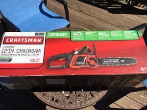 Chainsaw 12' craftsman cordless brand new for Sale in Fox River Grove, IL