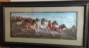 Horses picture frame for Sale in Detroit, MI