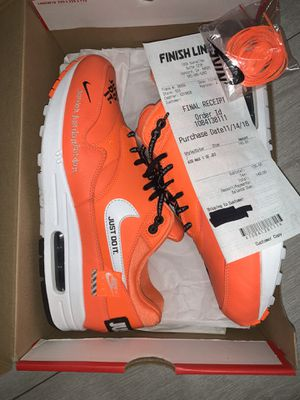 Nike air max 1 jdi total orange size 10 with recipt and extra laces VN DS for Sale in Federal Way, WA