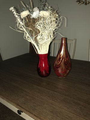 Red Vase for Sale in Aldie, VA