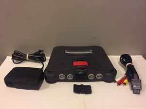 N64 Nintendo 64 + Memory Expansion Pack with all Nintendo Brand power and A/V cords for Sale for sale  Naperville, IL