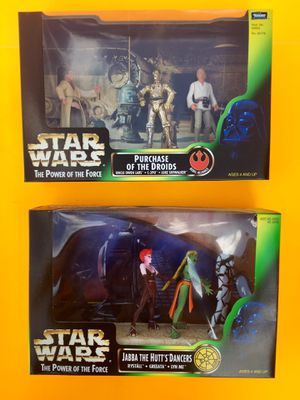 90s Star Wars Purchase of the Droids and Jabba The Hut Dancers Collectable Action Figures for Sale in Missoula, MT