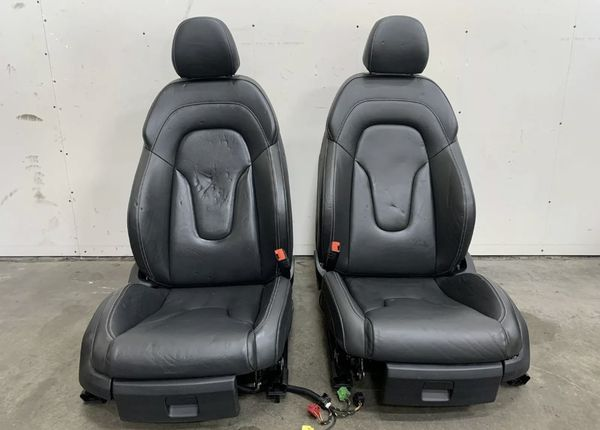 2013 Audi R8 V8 Leather Seat Set, Left & Right, White Stitching Used *NOTE