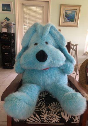 Giant blue stuffed dog for Sale in Bonita Springs, FL