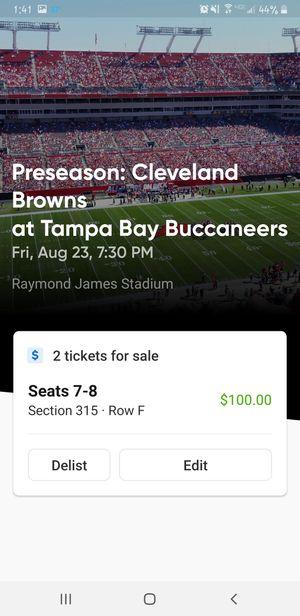 Bucs tickets $60 each! for Sale in Clearwater, FL