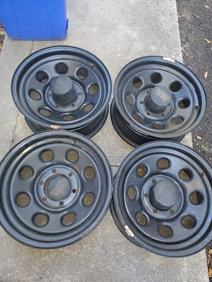 6 hole 16' black rims for Sale in Providence, RI