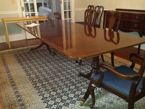 Antique furniture dining room table, with chairs for Sale in Mount Vernon, NY