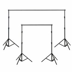 Adjustable Background Support Stand Photo Backdrop Crossbar Kit Photography 10Ft by 6Ft for Sale in Chino,  CA