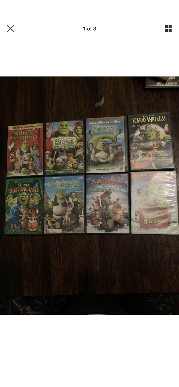 Lot of 8 shrek movies
