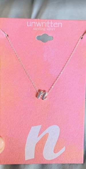 Letter N initial necklace for Sale in Cudahy, CA