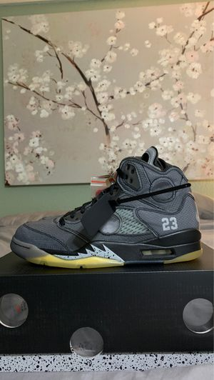 """Air Jordan 5 """"OFF WHITE"""" size 8 1/2 DEADSTOCK from Nike for Sale in Los Angeles, CA"""